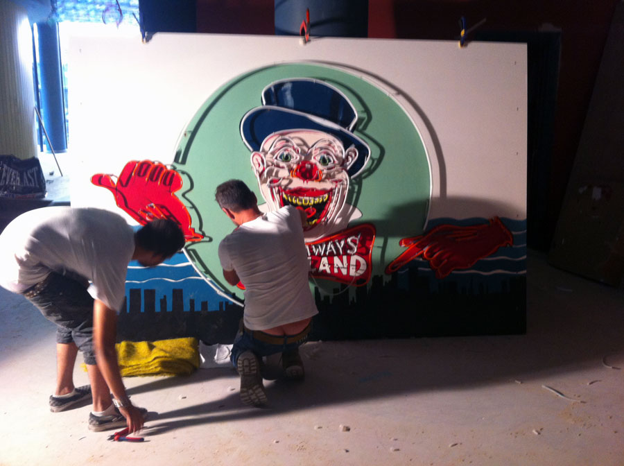 Andy Doig Building Playground Neon Sign