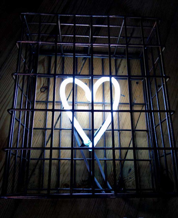 White Neon Heart