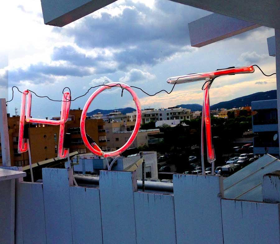 Neon in Ibiza Hotel