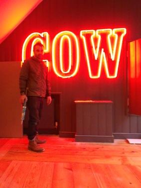 Cow Pub Neon Lettering
