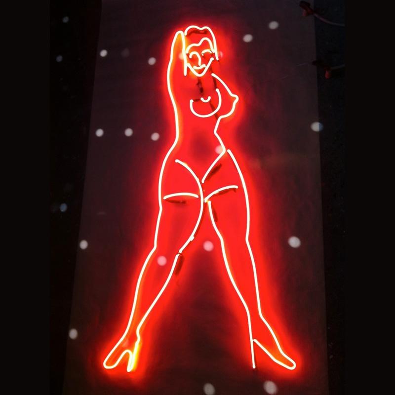 Neon Dancing Girl