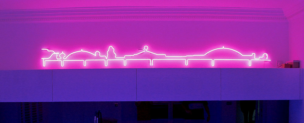 Brighton's Palace Pier in Bubblegum Pink Neon