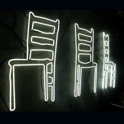 White Neon Chairs