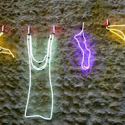 Neon Washing Line