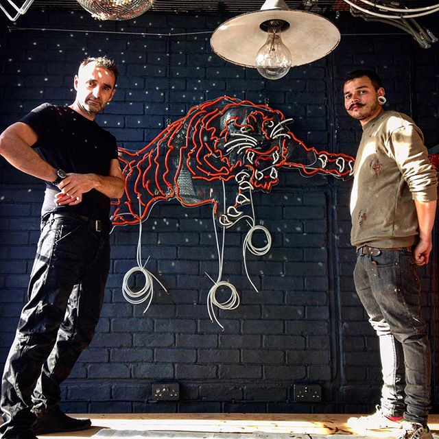 Neon Tiger and Andy