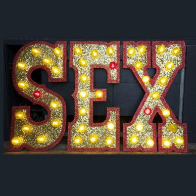 Sex Glitter Sign By Andy Doig