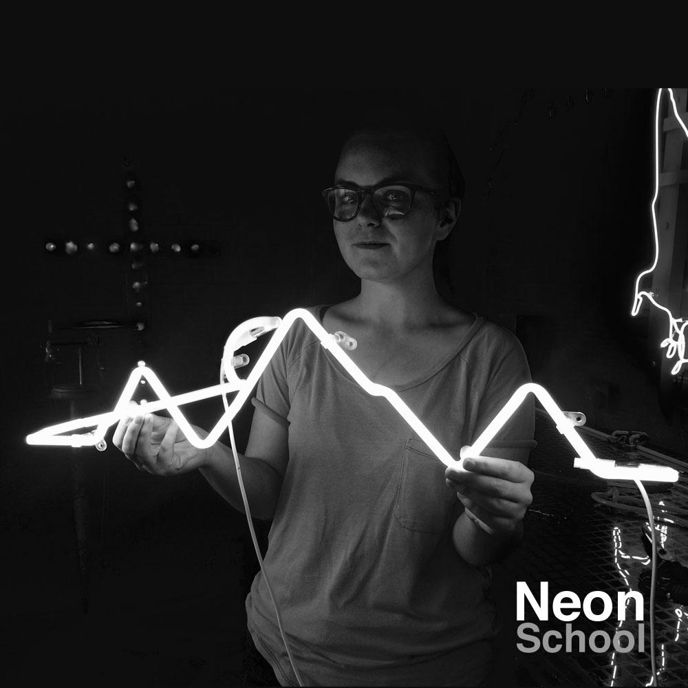 Neon School Student