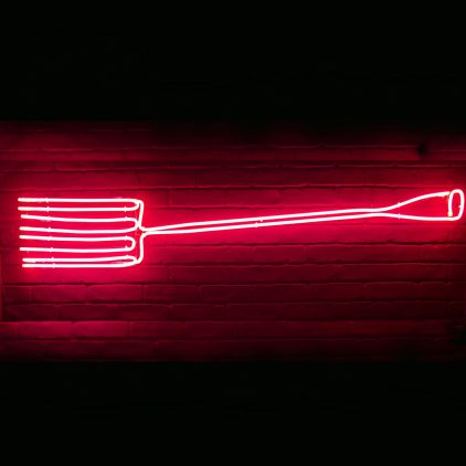 Neon Fork by Andy Doig