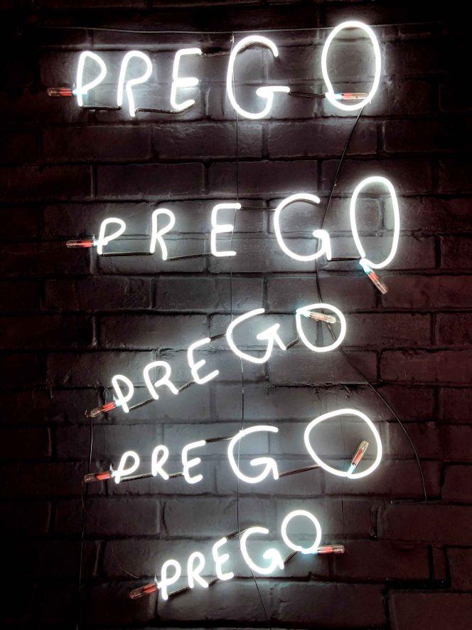 Prego Neon Lettering