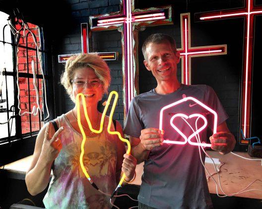 Neon School Students