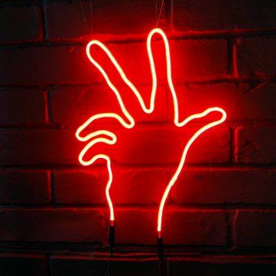Neon Hand 1