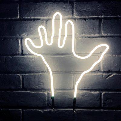 Neon Hand 8