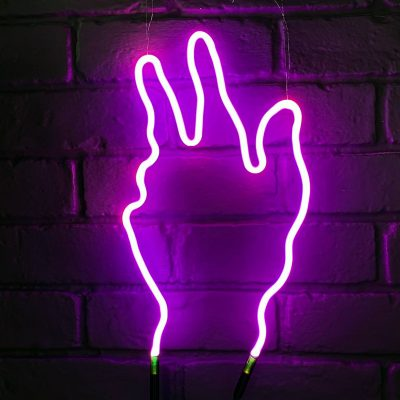 Neon Hand 9
