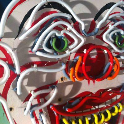 Neon Clown Andy Doig