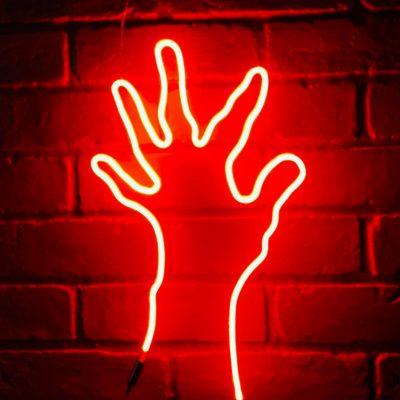 Neon Hand 10