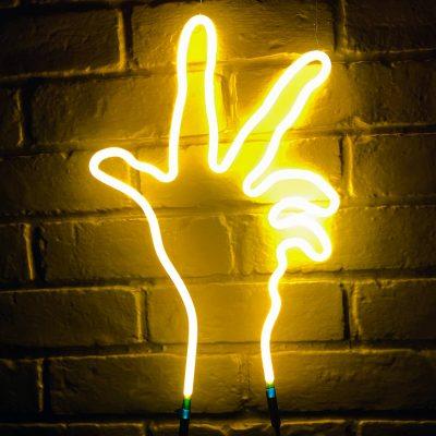 Neon Hand 21