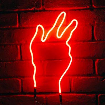 Neon Hand 24