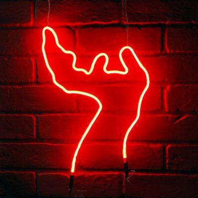 Neon Hand 4