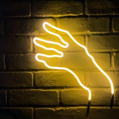 Neon Hand 6